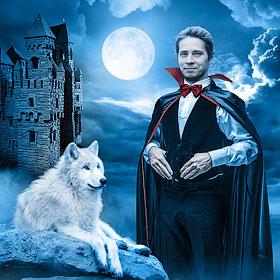 Вампир<span>Электронная поздравительная открытка для публикации в соцсетях</span>